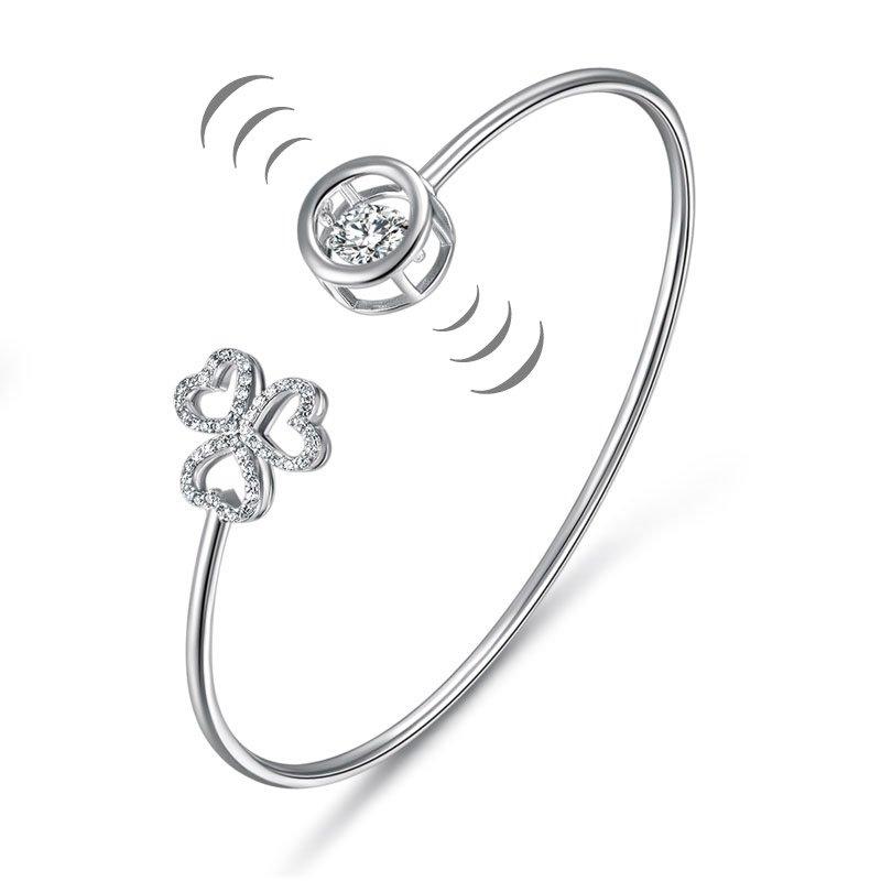 FB Jewels Solid 925 Sterling Silver Heart Earrings