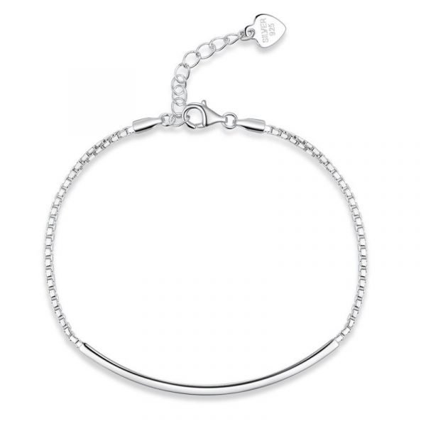 Solid Silver Bracelet Fashion Birthday and Wedding Gift 1