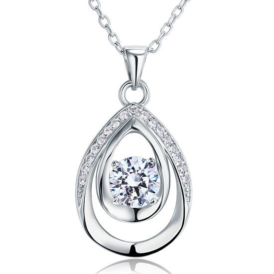 1 Carat Round Cut Bridesmaid Pendant Necklace Jewelry 1