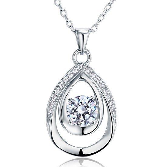 1 Carat Round Cut Bridesmaid Pendant Necklace Jewelry 1