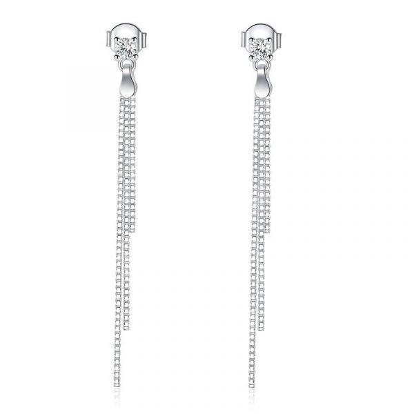Drop Dangle Solid 925 Sterling Silver Earrings Fashion Wedding Bridesmaid Birthday Gift 1