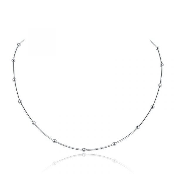Solid 925 Sterling Silver Chain Necklace Stylish Jewellery 1