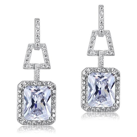 4 Carat Lab Created Diamond 925 Sterling Silver Dangle Earrings 1