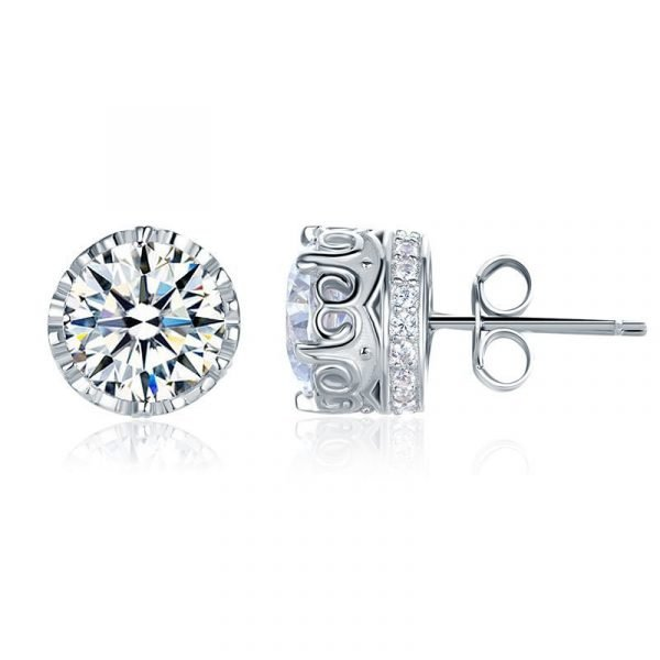 1.5 Carat Vintage Style Stud 925 Sterling Silver Earrings Jewellery 1