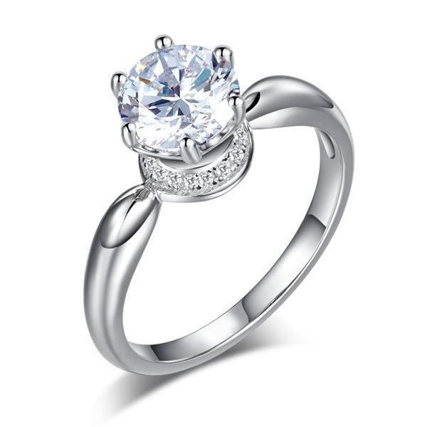 6 Claws Crown 925 Sterling Silver Wedding Promise Anniversary Ring 1.25 Ct Created Diamond Jewellery 1