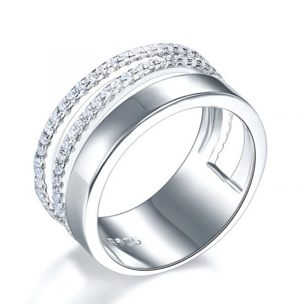 New Style Design Solid 925 Sterling Silver Wedding Band Ring 1