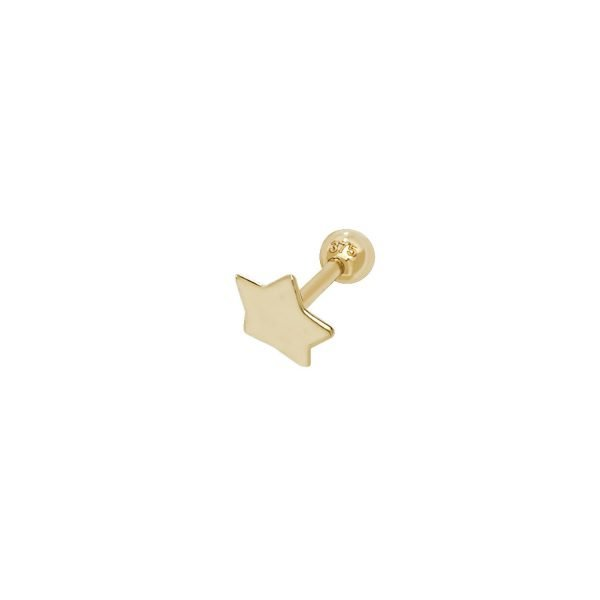 Genuine 9CT Yellow Gold Crown Cartilage 6mm Post Stud 1