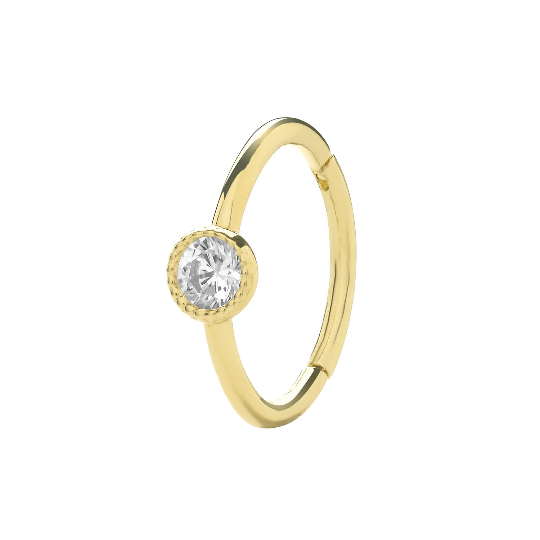 2.2 Grams Gold Hoop Earrings Genuine 9CT Yellow Gold Earrings Gift Boxed Earring HINGED CZ EARRINGS