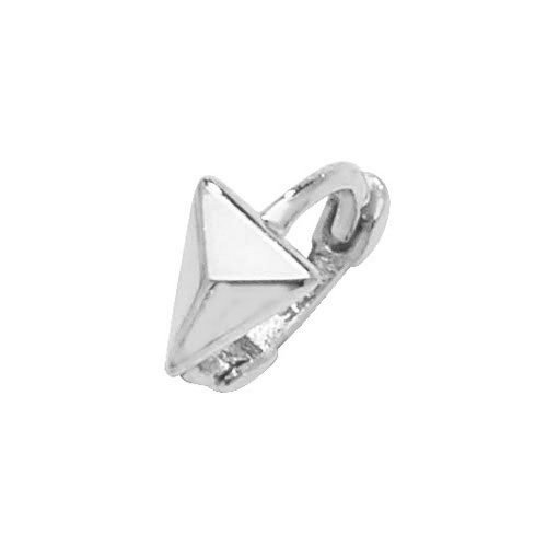 Genuine 9CT White Gold Rhombus Cartilage Hoop Earring 1