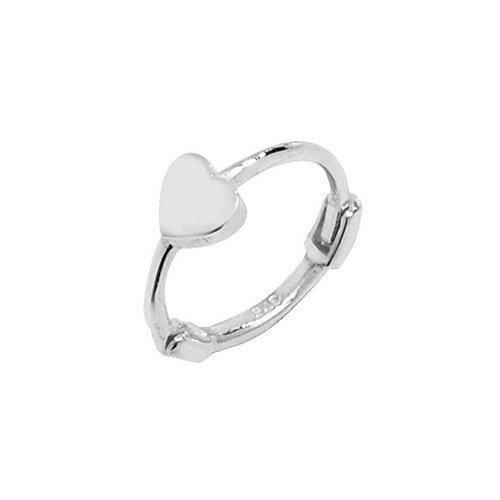 Genuine 9CT White Gold Heart Cartilage Hoop Earring 1