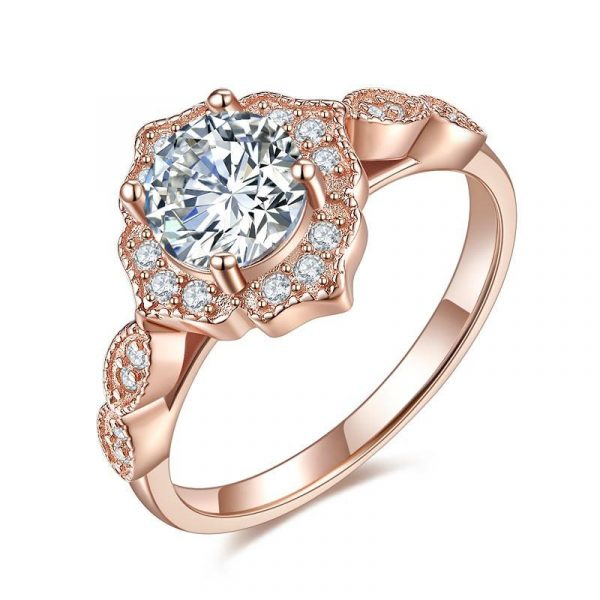 Solid 925 Sterling Silver Wedding Band Eternity Stacking Ring Rose Gold Plated 1
