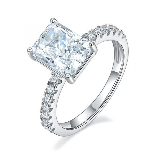 3 Ct Created Diamond 925 Sterling Silver Wedding Ring Promise ring 1