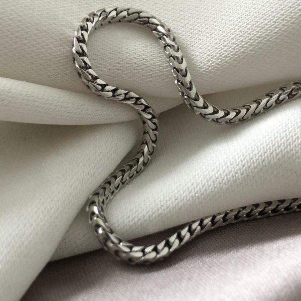 "Silver Franco Chain - Men's chain sterling silver 925 Hallmark - Gift Boxed Silver Chain 16""-30"" 3MM 1"