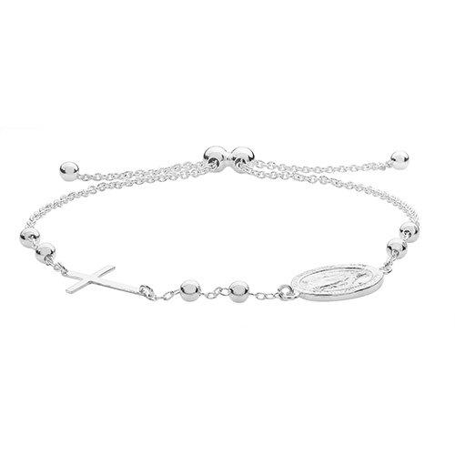 Rosary Pull Style Bracelet