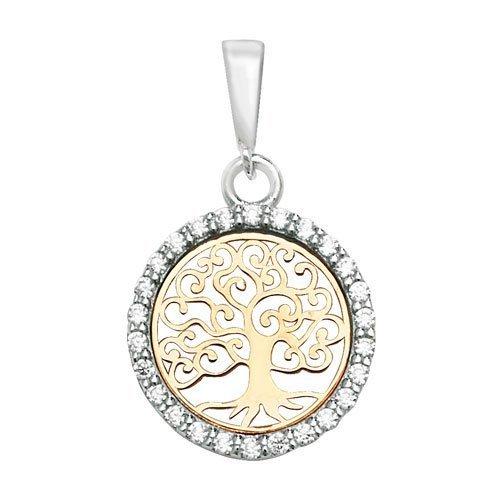 Tree of Life Round CZ Pendant