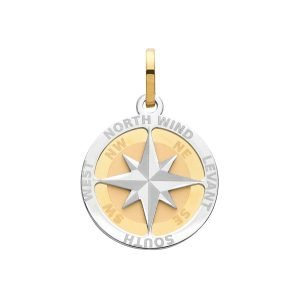 Compass Rose Small Pendant