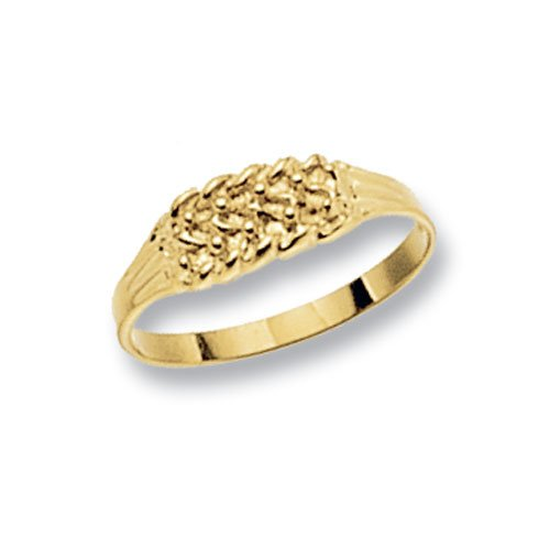 Genuine 9ct Yellow Gold Babies Keeper 3 Row Ring 1