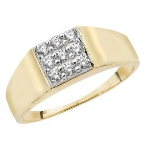 Babies Square CZ Ring
