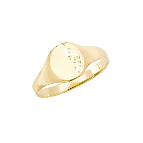 Engraved Oval Signet Ring