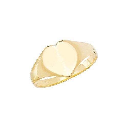 Plain Heart Signet Ring