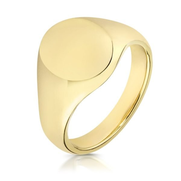 HEAVY WEIGHT OVAL SIGNET RING