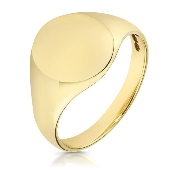 Light Weight Oval Signet Ring