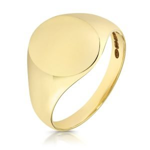 ULTRA LIGHT WEIGHT OVAL SIGNET RING
