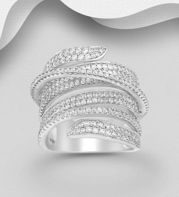 CZ Simulated Diamonds ring