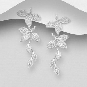 Leaf Push-Back Earrings